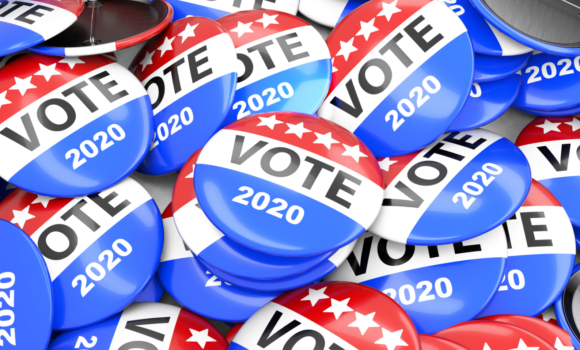 Vote election badge button for 2020