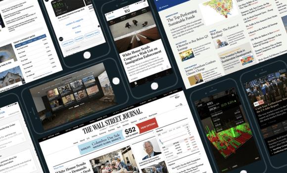 Wall Street Journal screenshots