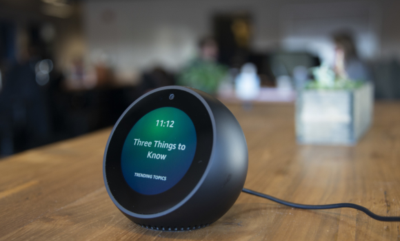 A photograph of an Alexa Amazon Spot.