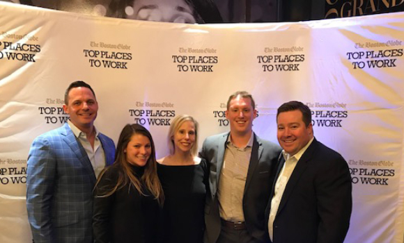 The Applause team at the Boston Globe Top Places to Work celebratory party.