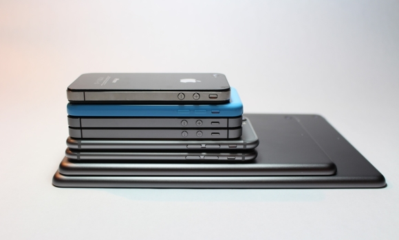 Stack of mobile devices