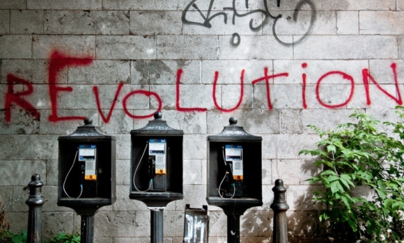 Revolution on a wall
