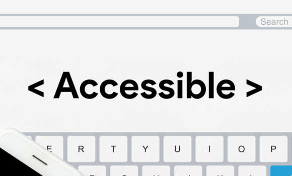 Image of the word accessible on a computer screen