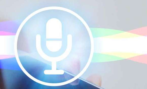 The microphone icon overlaying the sound waves typically found during a smartphone voice search.