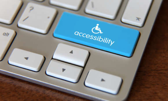 Keyboard with an accessibility button
