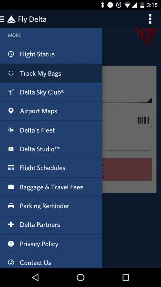 Fly Delta app