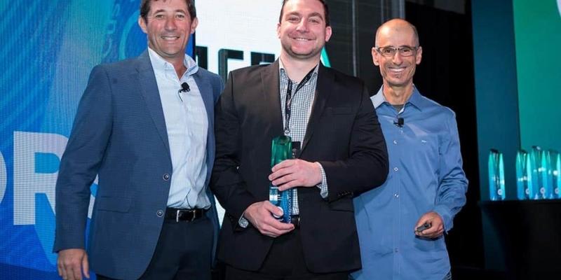Michael Kors receiving ACE award at DigitalXChange