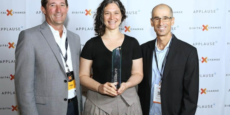 Microsoft receiving ACE award at DigitalXChange