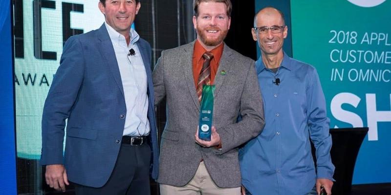 Shake Shack receiving ACE award at DigitalXChange
