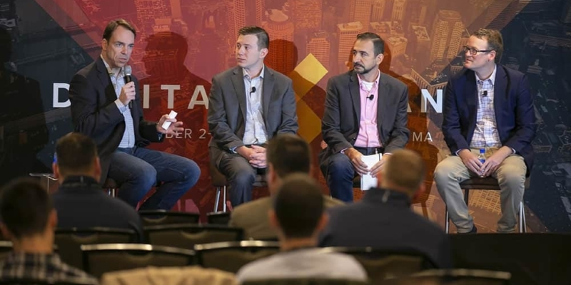 Voicebot.ai's founder Bret Kinsella moderated a session at DigitalXChange