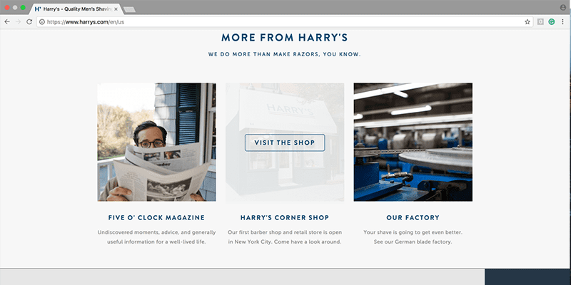 Harrys website