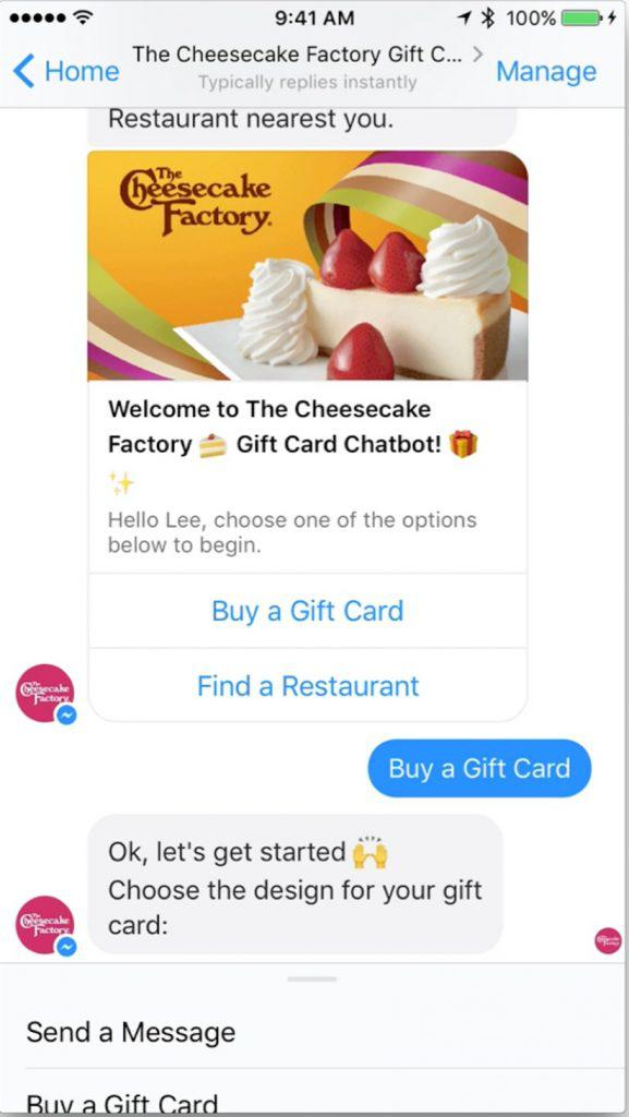 Cheesecake Factory Bot