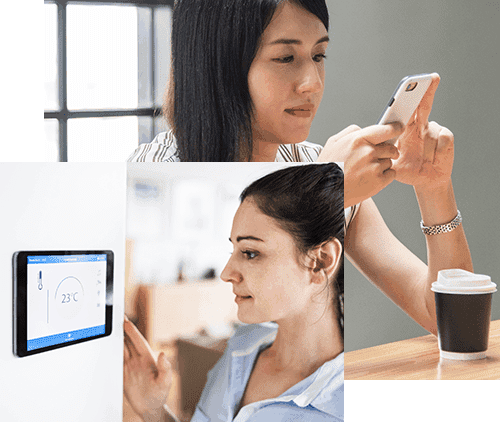 Frau Tablet Smartphone Connected Devices