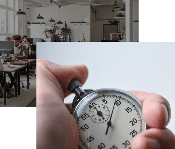 Holding Stopwatch People In Office
